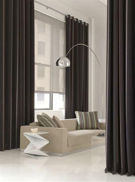 emejing salon noir avec rideau images amazing house