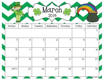 editable calendar version sarah kirby tpt