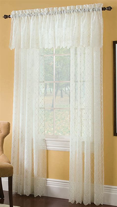 Crushed Voile Curtains White by Mystic Crushed Voile Embroidered Curtain Renaissance