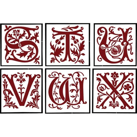 custom storybook monogram initial  stencil