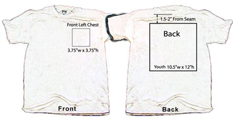 left chest logo placement template screen printing design placement quotes