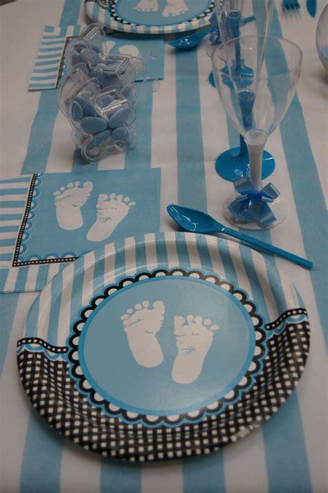 decoration de table bapteme garcon idee baby boy