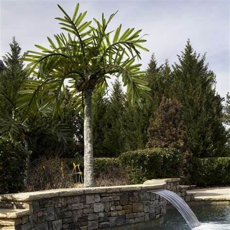 lighted palm trees 12 led palm tree natural green