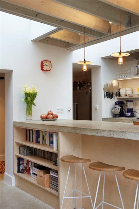 contoire de cuisine ampliación de una cocina hacia el jardín interior