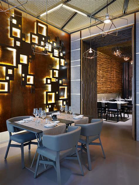 intricate details of a sushi bar restaurant design commercial interior design news mindful