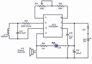 Simple Metal Detector Circuit Diagram Using Cs209a