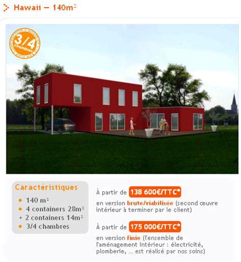 plan de maison en l avec 4 chambres maison container la maison design à prix discount