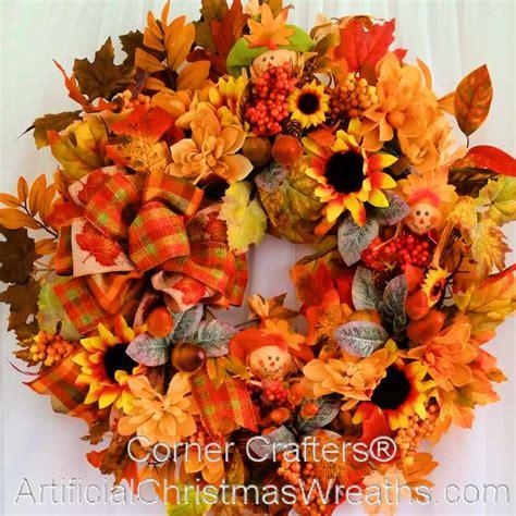 fall burlap scarecrow wreath cornercrafterscom fall