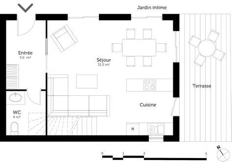 plan de maison 3 chambres salon plan maison à étage avec 2 chambres ooreka