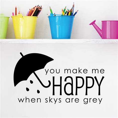 you make me happy wall quotes decal wallquotes