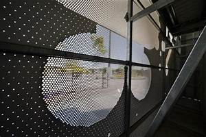 Perforated Metal Architectural Fa U00e7ade At Melbourne Cogeneration Plant