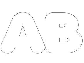 resultado de imagen de moldes de letras grandes para imprimir y recortar
