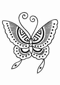 Dessin Facile Papillon : coloriage papillon 4 sur ~ Melissatoandfro.com Idées de Décoration