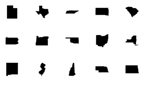 17 Best Images About State Shapes On Pinterest