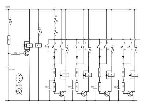 extended counter using cd4017 plc and circuit diagram