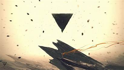 Pyramid Abstract Deviantart Triangle Fantasy Artwork Rock