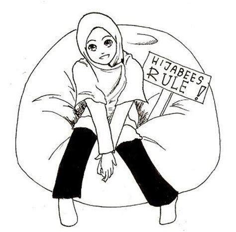 Gambar Kartun Romantis Hitam Putih Islami Nusagates