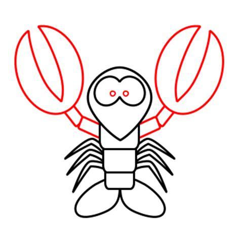 drawing  cartoon lobster