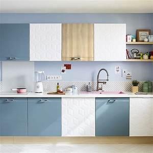 Porte De Placard De Cuisine : peinture cuisine les couleurs tendance adopter marie claire ~ Teatrodelosmanantiales.com Idées de Décoration