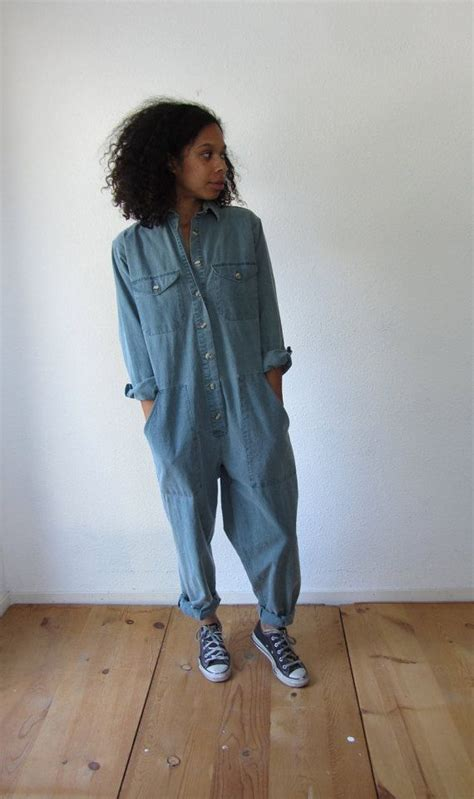 vintage womens jumpsuit coveralls  hotcocoavintage