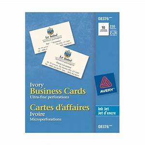 Avery ink jet printers 8376 matte ivory business cards for Business cards at walmart