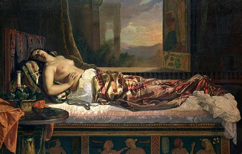 The Death Of Cleopatra Painting By German Von Bohn