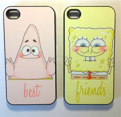 best friend iphone 5 cases sponge bob best friend cases for iphone 4 4s iphone 5 and Best