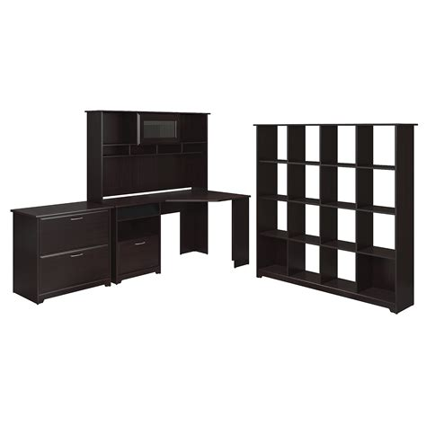 Bush Furniture Corner Desk Assembly by Bush Furniture Cabot Collection 60w Corner Desk Hutch 16