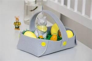 Osterkörbchen Mit Kindern Basteln : filz osterk rbchen handmade kultur ~ Markanthonyermac.com Haus und Dekorationen
