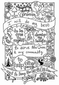 Uk Guide Promise Colouring Sheet  Created By  Emyb Emy