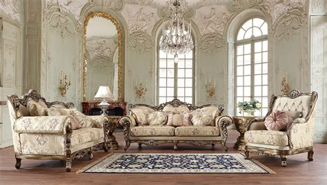 Browse all of it here. HD 506 Homey Design Upholstery Living Room Set Victorian ...