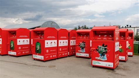 Pieejami speciāli konteineri apģērbu, apavu un citu ...