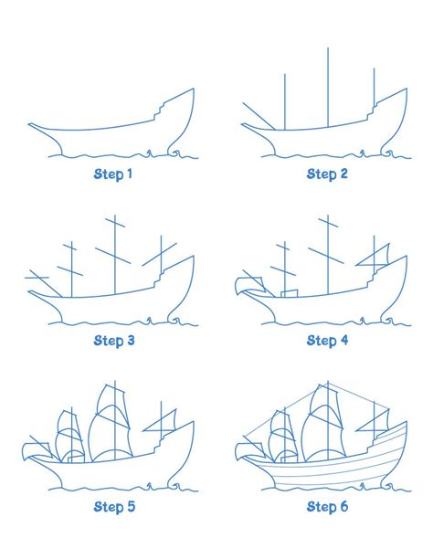 How To Draw A Pilgrim Boat by How To Draw Mayflower Ship Hellokids
