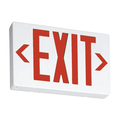 Flooring Ideas For Kitchen - lithonia lighting thermoplastic led emergency exit sign exr led el m6 the home depot