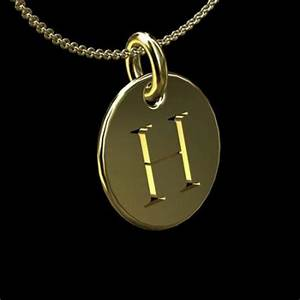 gold cut out initial letter h disc pendant 145mm With gold letter h pendant