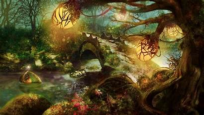 Fantasy Forest Nature Wallpapersafari Resolution