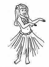 Coloring Pages Hula Hawaiian Dance Hand Wave Performing sketch template