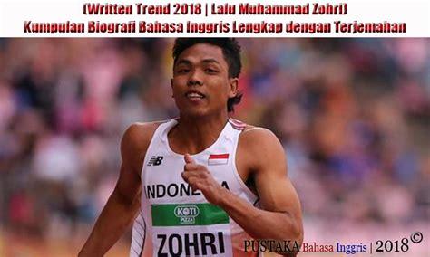 Written Trend Lalu Muhammad Zohri Kumpulan