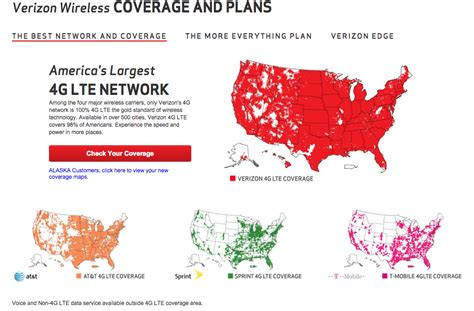 cell phone coverage map comparison verizon s new exaggerated coverage map to compete with at t