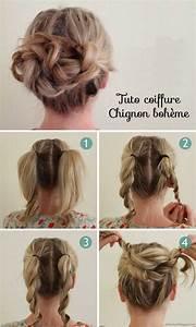 Coiffure Mariage Facile Cheveux Mi Long : 306 best images about tuto de coiffure on pinterest hairstyles hair and beauty ~ Nature-et-papiers.com Idées de Décoration