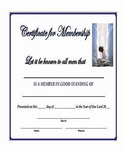 Sample Blank Certificate