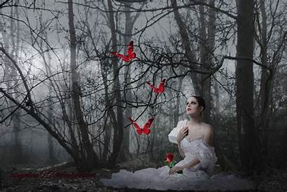 Gothic Fantasy Sitting Exotic Wallpapers Pozadia Dark