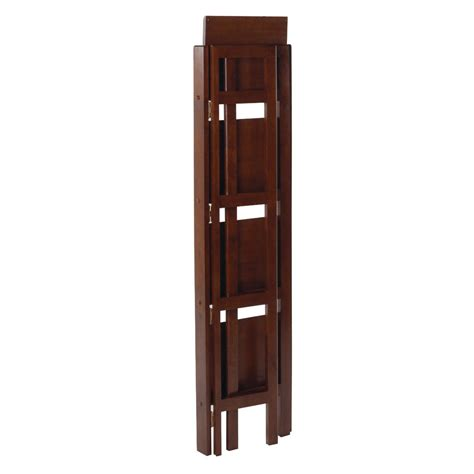 Narrow Shelf by Winsome 4 Tier Folding Shelf Narrow By Oj Commerce 94852