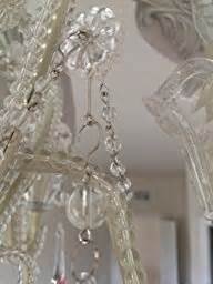 amazon com crystal bead antique white candelabra ceiling