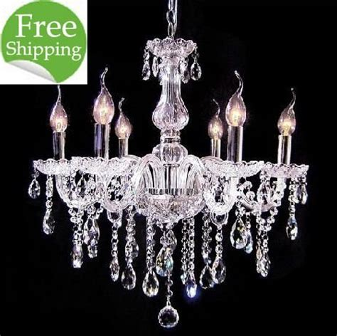 free shipping 6 light cheap glass chandelier