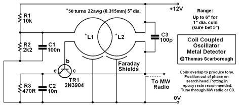 Coil Coupled Metal Detector Circuit Diagram World