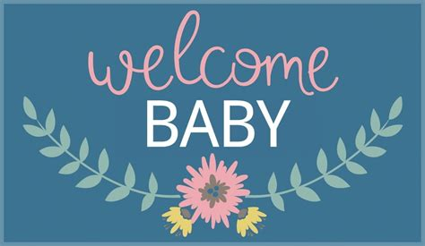 Free Printable Welcome Baby Card