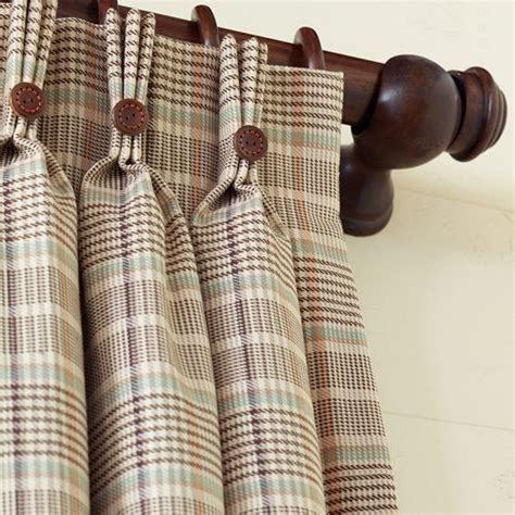 Plaid Drapery Panels by Plaid Curtains Hermes And Plaid On