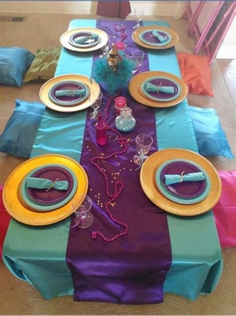 Shimmer and Shine Birthday Party Table