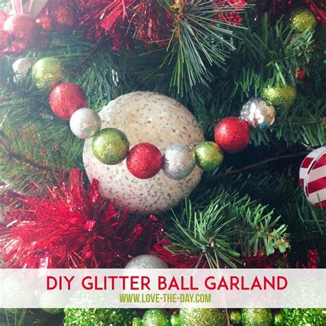 diy christmas decorations whimsical glittered ball garlands
